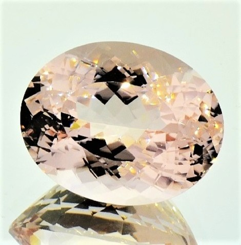 Morganite oval 12.36 ct