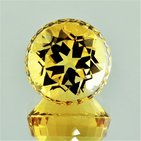 Citrine Rund-Design yellow 25.22 ct