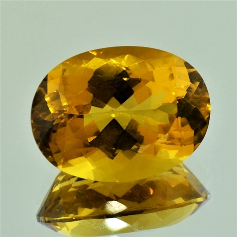 Citrine oval 21.59 ct