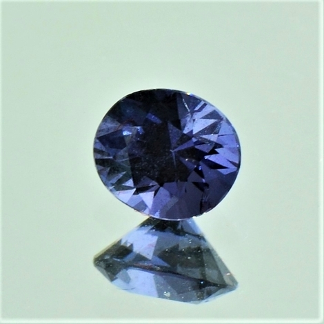 Spinell oval dunkelblau 1,08 ct