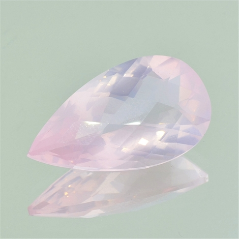 Rose-Quartz pear-checkerboard 21.48 ct