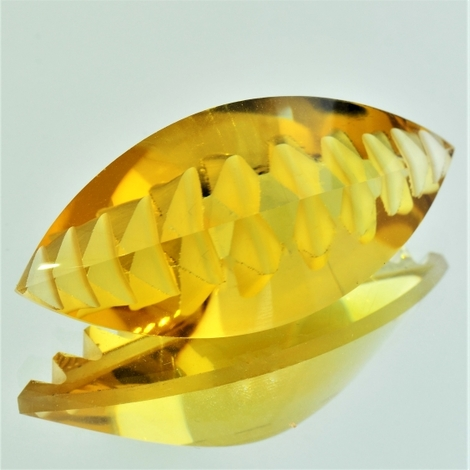Citrin Navette-Design 45,23 ct