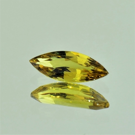 Sapphire marquise yellowish green unheated 1.58 ct