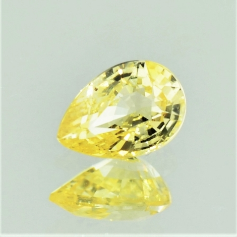 Sapphire pear yellow unheated 1.20 ct