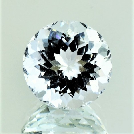 Beryl Goshenite round colorless 13.24 ct