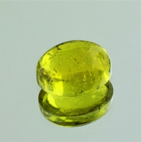 Tourmaline Cabochon oval yellow 4.48 ct
