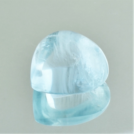 Aquamarine Cabochon pear 6.48 ct