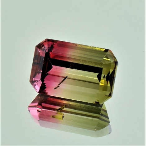 Bicolor-Turmalin octagon 8.31 ct