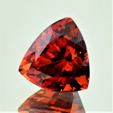 Garnet Spessartite trillion reddish-orange 5.53 ct