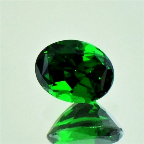 Tsavorit oval 1,27 ct
