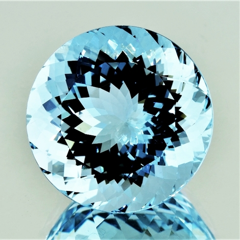 Aquamarine round light blue 53.27 ct