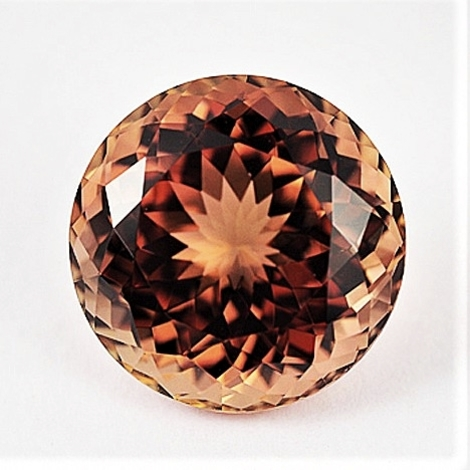 Tourmaline round pinkish orange (slightly brownish) 14.44 ct.