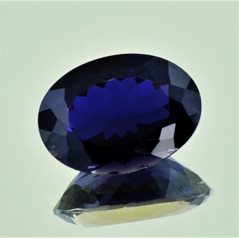 Iolite oval deep blue 10.64 ct