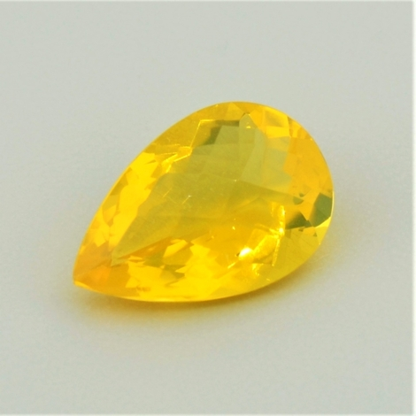 Fire Opal pear-checkerboard yellow 3.56 ct