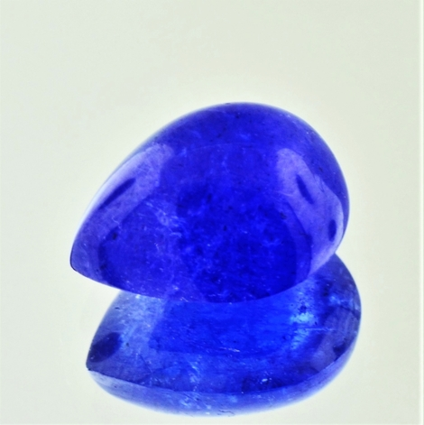 Tanzanite Cabochon pear blue 11.30 ct