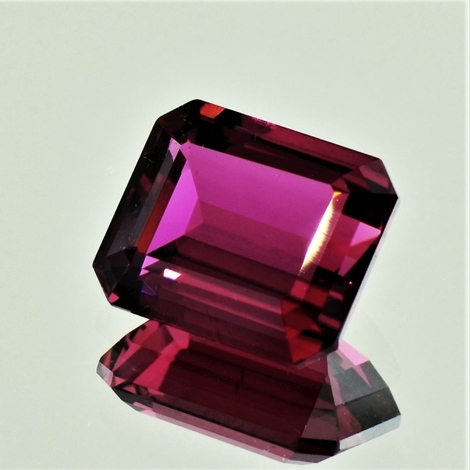 Rubellite Tourmaline octagon pinkish purple 7.41 ct