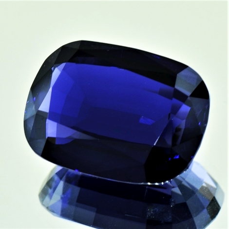 Iolite cushion deep blue 21.79 ct