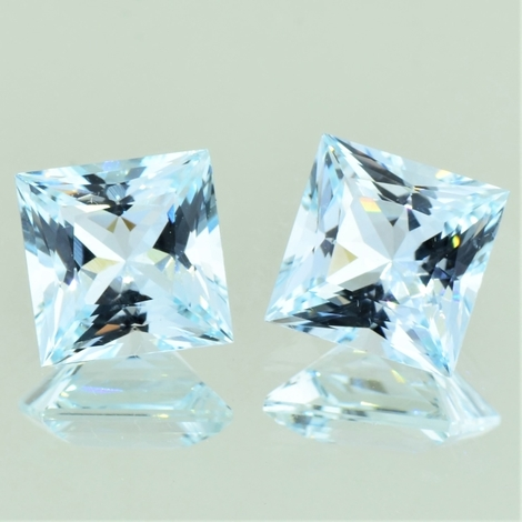 Aquamarin Duo Princess 9,36 ct