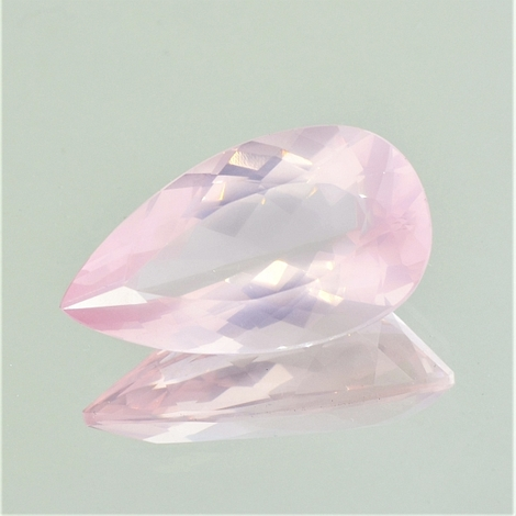 Rose-Quartz pear 19.00 ct