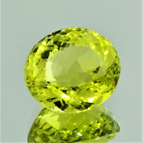 Lemonquarz oval 25,12 ct