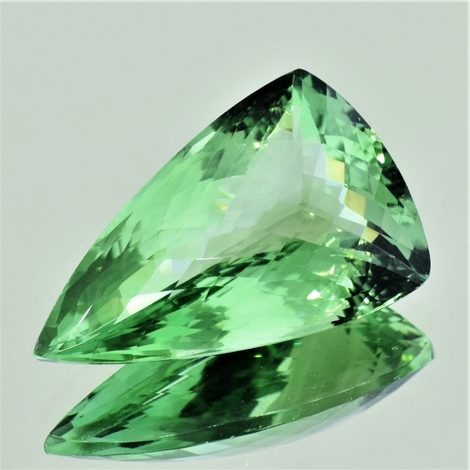 Prasiolith trillion-checkerboard 30.71 ct
