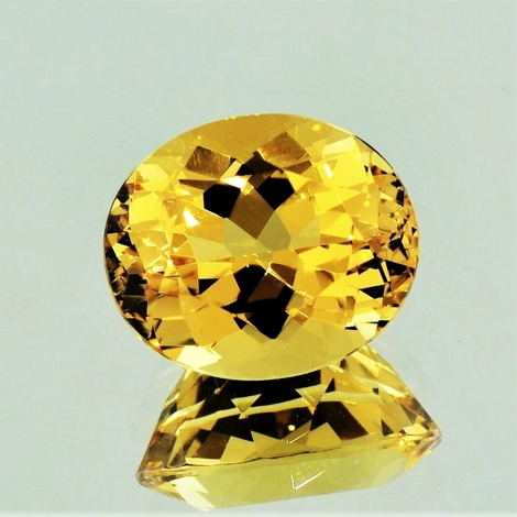 Golden Beryl oval intensives-goldgelb 8.39 ct