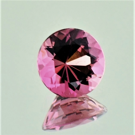 Rubellite Tourmaline round pinkish-red   1.93 ct