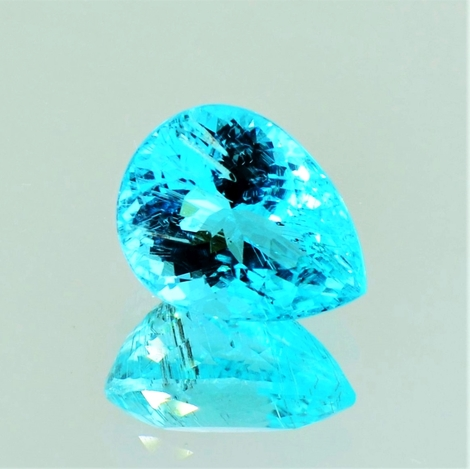 Paraiba-Turmalin pear neon blue 5.31 ct