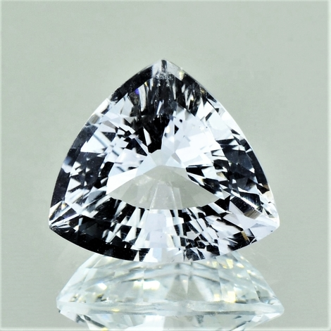 Topas Trillion farblos 8,55 ct