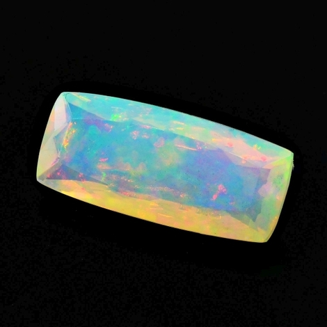 Precious Opal cushion multicolor 5.22 ct
