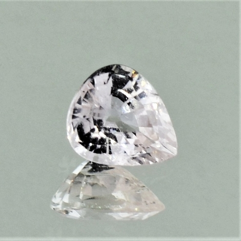 Sapphire pear very light pink unheated 1.02 ct