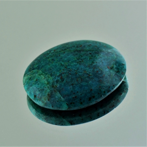 Chrysokoll, Oval Cabochon (35,84 ct.) aus Peru (Lilly Mine)