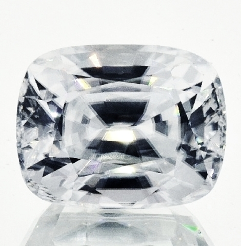 Zircon cushion colorless 29.70 ct
