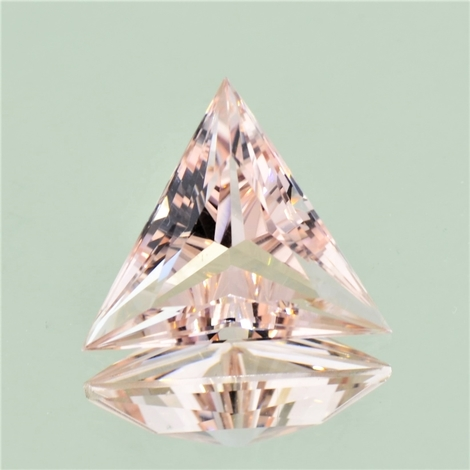 Morganite trillion light pink 10.63 ct