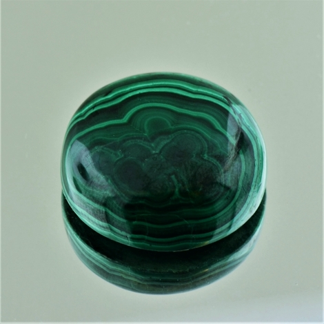 Malachite Cabochon round 47.32 ct.