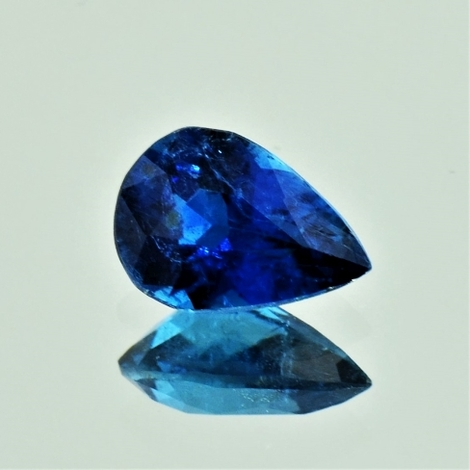 Indicolite pear dark blue 1.86 ct