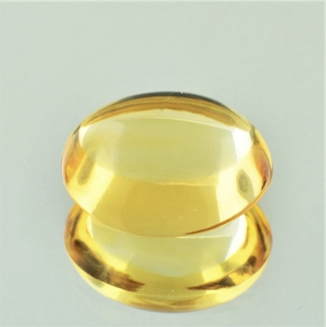 Citrine Cabochon oval yellow 17.32 ct