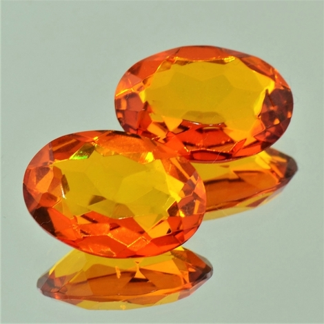 Amber Pair oval 9.48 ct