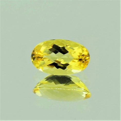 Goldberyll oval-schachbrett 1,5 ct