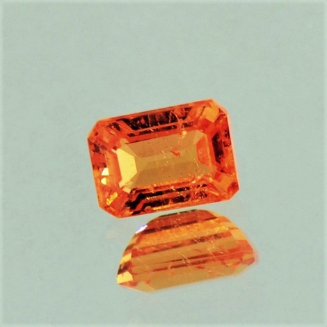 Mandarin-Granat octagon orange 1,20 ct