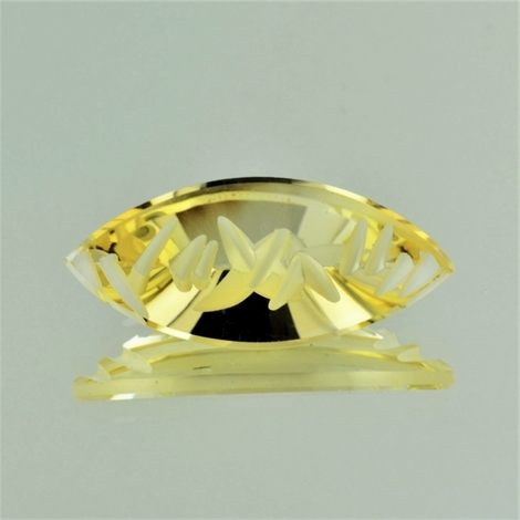 Citrine Navette-Design light yellow 24.18 ct