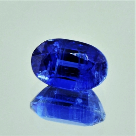 Kyanite oval dark blue 4.87 ct