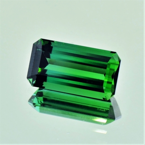 Green Tourmaline Tourmaline octagon green 8.73 ct