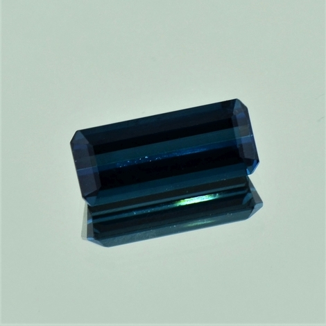 Indicolite Tourmaline octagon dark blue 5.98 ct