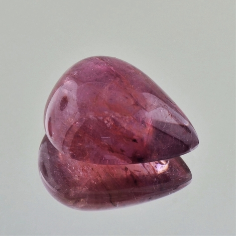 Tourmaline Cabochon pear reddish-pink 23.57 ct