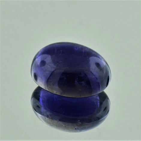 Iolite Cabochon oval dark blue 6.04 ct