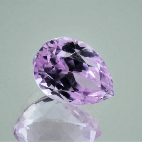Kunzite pear light pink 7.57 ct