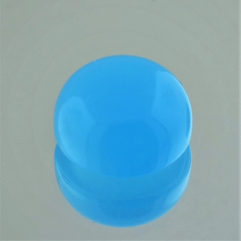 Chalcedony Cabochon round light blue 15.53 ct
