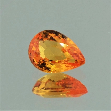 Mandarin-Garnet pear orange 1.72 ct