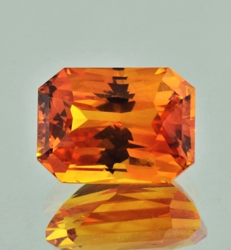 Sapphire octagon-princess orange 7.94 ct